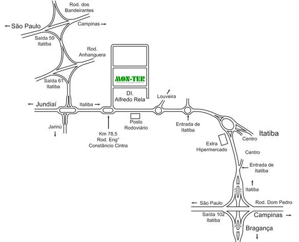 mapa da empresa